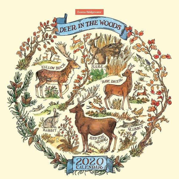Carousel Emma Bridgewater Deer in the Woods Kalender 2020