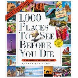 Workman Publishing 1000 Orte zu sehen, bevor Sie Kalender 2020