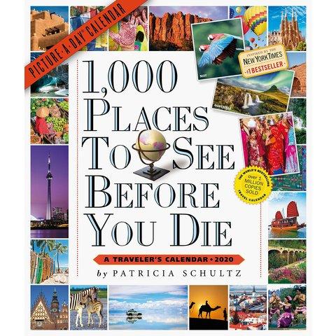 1000 Orte zu sehen, bevor Sie Kalender 2020
