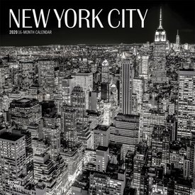 Browntrout New York City z/w Kalender 2020