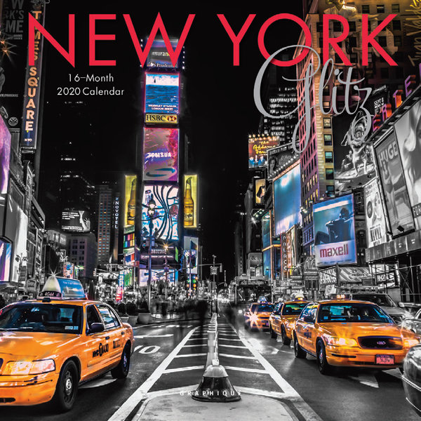 Graphique de France New York Glitz Kalender 2020