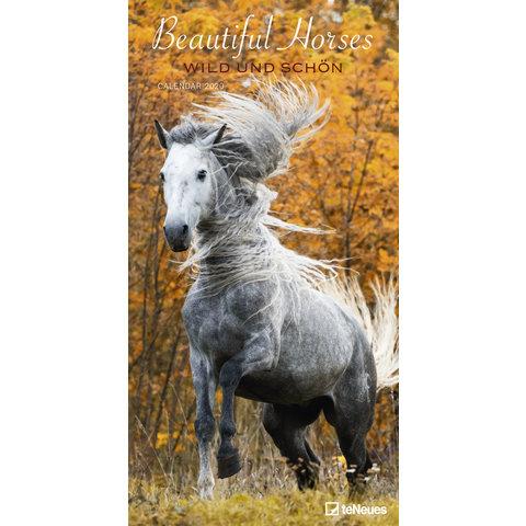 Beautiful Horses Slimline Posterkalender 2020