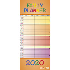 teNeues Lovely Colours Familieplanner 2020