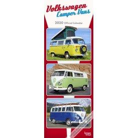 Browntrout Volkswagen Camper Vans Slimline Kalender 2020