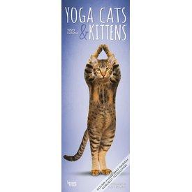 Browntrout Yoga Cats & Kittens Slimline Kalender 2020