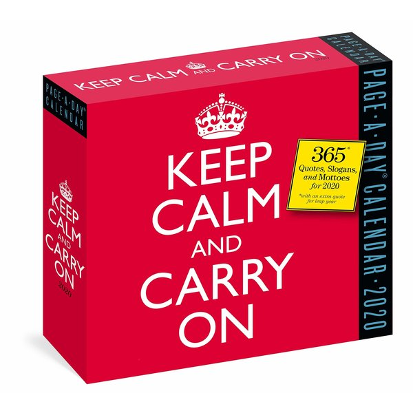 Workman Publishing Keep Calm and Carry On Page-A-Day Tages-Abreisskalender 2020