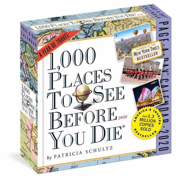 Workman Publishing 1000 Places to See Before You Die Page-A-Day Scheurkalender 2020