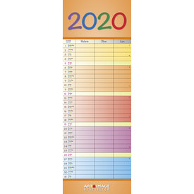 teNeues Rainbow Colours Familieplanner 2020
