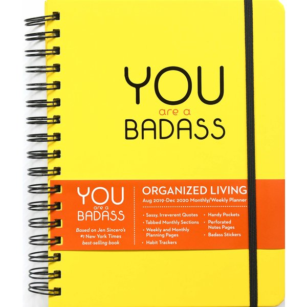 Andrews McMeel You are a Badass 2019-2020 Monthly/Weekly Planner Agenda