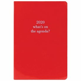 Graphique de France Glossy Red Imitatieleer Agenda 2020