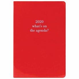 Graphique de France Glossy Red Kunstleder Agenda 2020