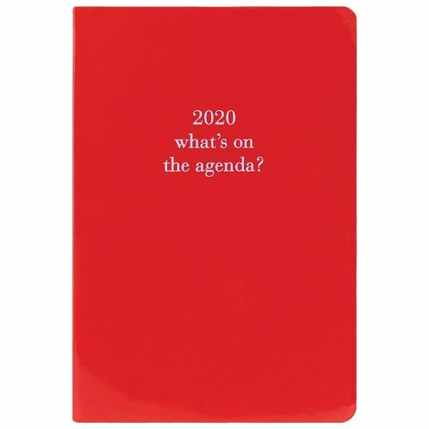 Glossy Red Imitatieleer Agenda 2020