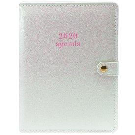 Graphique de France White Glitter Planner Agenda 2020