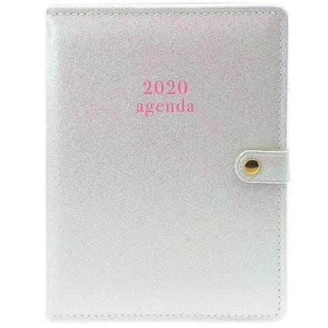 White Glitter Planner Agenda 2020