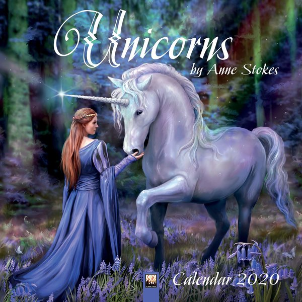 Flame Tree Eenhoorns - Unicorns by Anne Stokes Kalender 2020