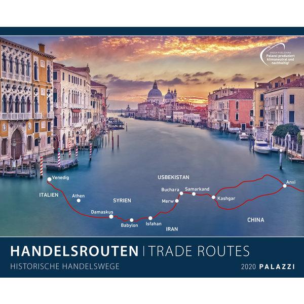 Palazzi Handelsrouten: Historische Handelswege Plakatkalender 2020