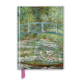 Flame Tree Claude Monet: Bridge over a Pond of Water Lilies Notebook