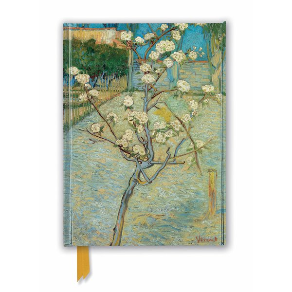 Flame Tree Vincent van Gogh: Small Pear Tree in Blossom Notebook