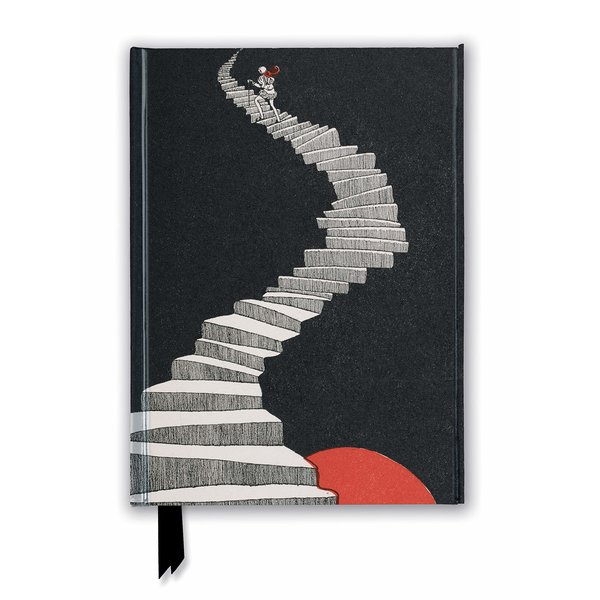 Flame Tree British Library: Hans Christian Andersen, A Figure Walking up a Staircase Notebook