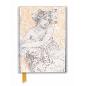 Flame Tree Alphonse Mucha: Décoratifs Plate 12 Notebook