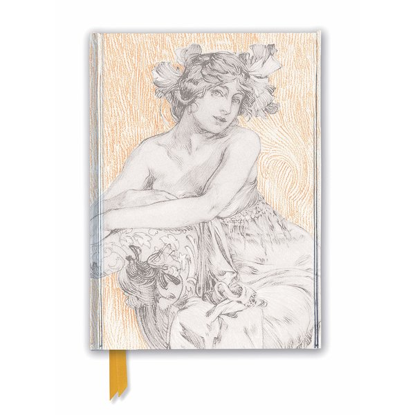 Flame Tree Alphonse Mucha: Study for Documents Décoratifs Plate 12 Notebook