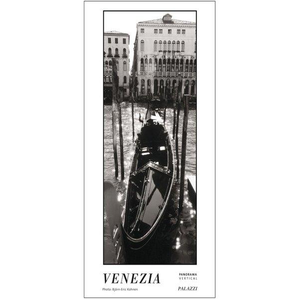Palazzi Venetië - Venezia Zwart-Wit Panorama Tijdloze David Posterkalender
