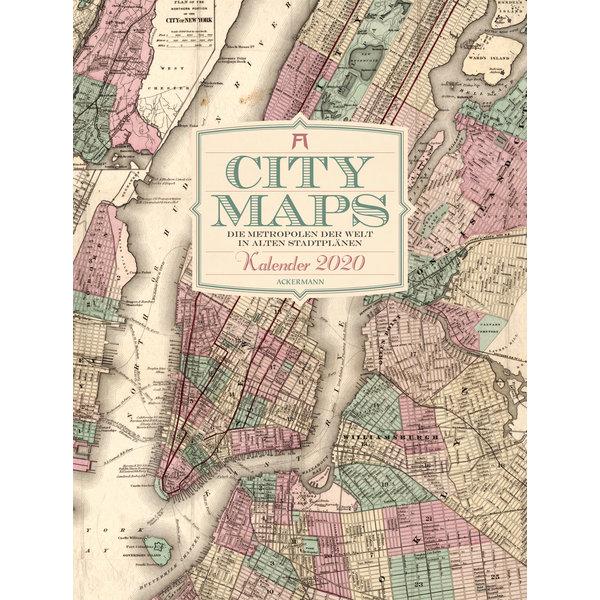 Ackermann City Maps Die Metropolen Der Welt In Alten Stadtplanen Kalender 2020