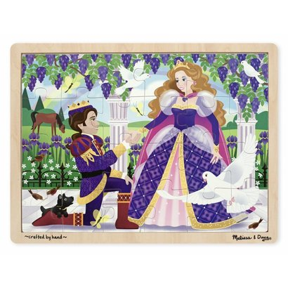 Melissa and Doug Houten Leg Puzzel Prinses 24 st