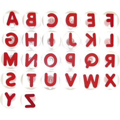 Reuzenstempels Alfabet, hoofdletters ( 26 delig)