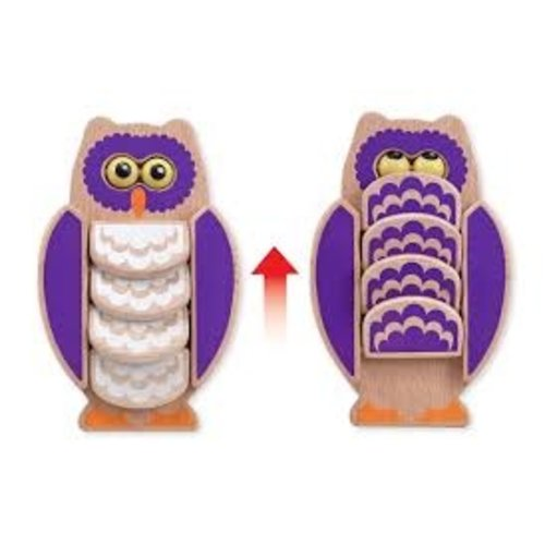 Melissa and Doug Flapping Owl - houten babyspeelgoed