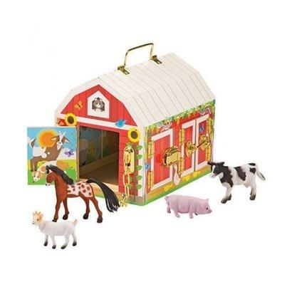 Melissa and Doug Sloten boeren schuur met 4 speeldieren