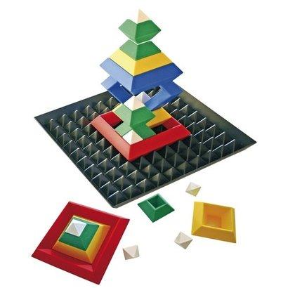 Piramide Bouw Puzzel met basis bord