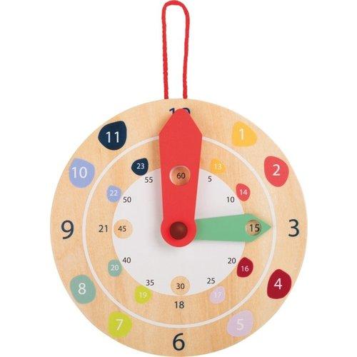 Educatieve houten klok - leer klok kijken!