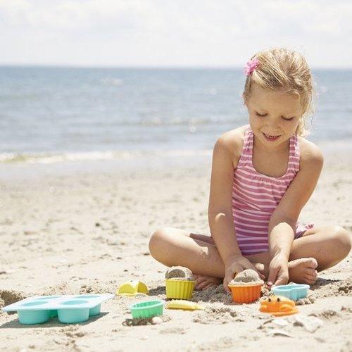 Melissa and Doug Seaside Sand Cupcake Set - 12 delige Zandvormen set