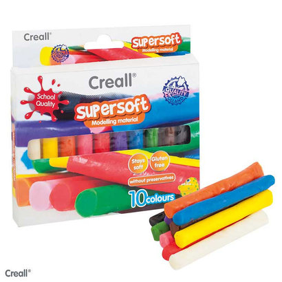 Creall Creall Supersoft Klei Set - 10 kleuren
