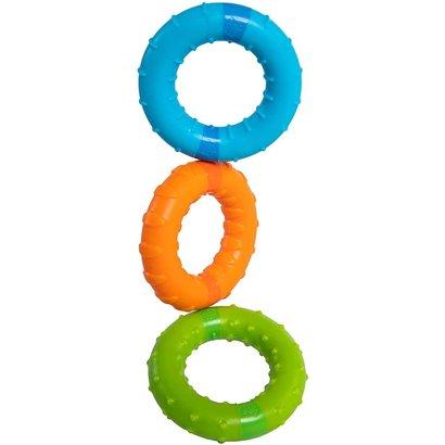 Fat Brain Toys Silly Rings - Magnetische ringen met rammeltje