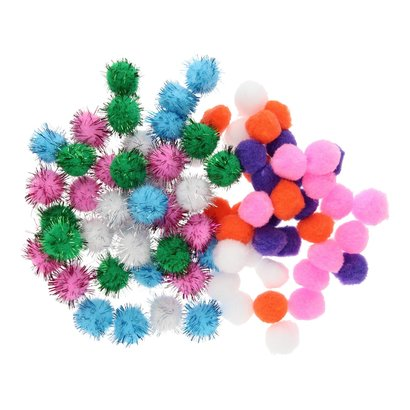 Mixed Pompoms balletjes 80st