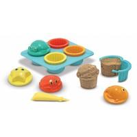 Seaside Sand Cupcake Set - 12 delige Zandvormen set