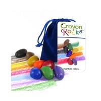 Crayon Rocks 8 waskrijtjes in fluwelen zakje