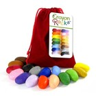 Crayon Rocks Crayon Rocks 16 ecologische krijtjes in fluwelen zakje