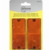 Reflector rechthoek oranje - 90x40 mm / 2-delig