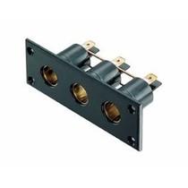 3-weg inbouwstopcontact DIN / 12 volt
