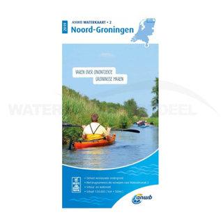 ANWB waterkaart 2 Noord-Groningen Editie 2019