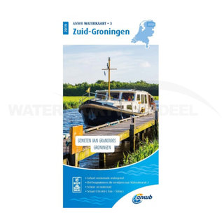 ANWB waterkaart 3 Zuid-Groningen Editie 2020