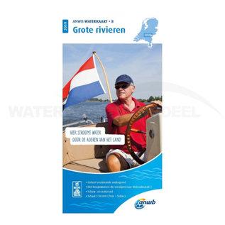 ANWB waterkaart 8 Grote Rivieren Editie 2019