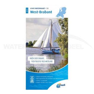 ANWB waterkaart 13 West-Brabant Editie 2020