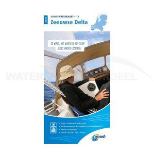 ANWB waterkaart 14 Zeeuwse Delta Editie 2020