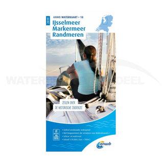 ANWB waterkaart 18 IJsselmeer-Markermeer / Randmeren Editie 2020