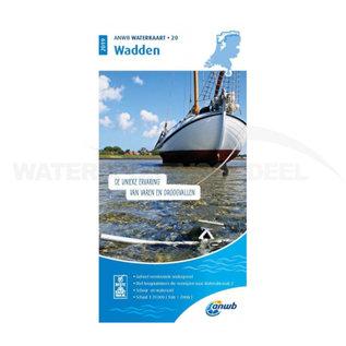 ANWB waterkaart 20 Wadden Editie 2020