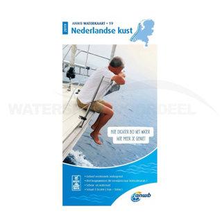 ANWB waterkaart 19 Nederlandse Kust Editie 2019